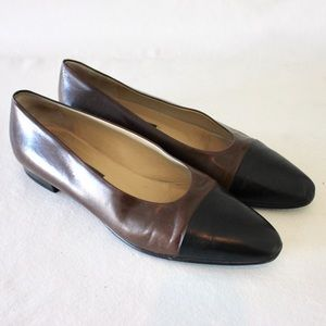 Bally Shoes - Bally Chocolate Brown Cap Toe Flat Loafer